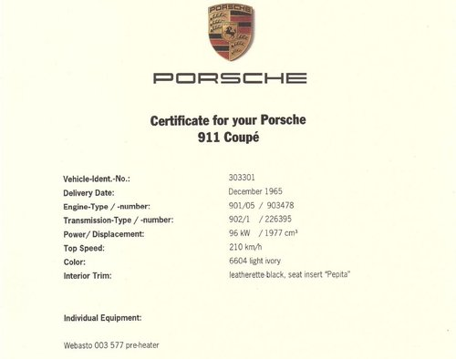 1965 Porsche 911 Early production 65R project For Sale (picture 4 of 5)