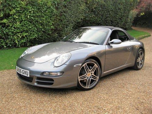 2005 Porsche 911 (997) Carrera Convertible With Turbo Alloys For Sale (picture 1 of 6)
