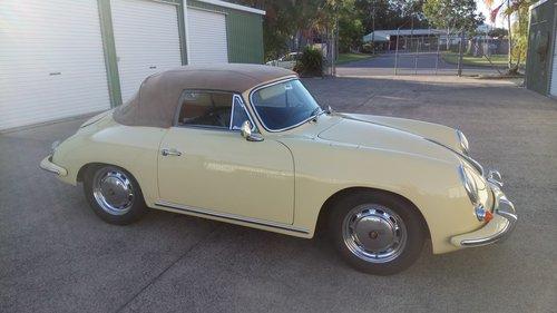 1965 Champagne Yellow 356C Cabrio For Sale (picture 3 of 6)