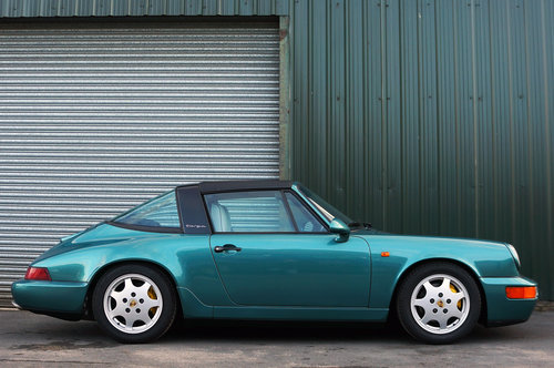 1992 Porsche 911 (964) Carrera 4 Targa, Turkis Green, 58k miles. For Sale (picture 2 of 6)