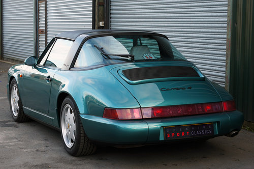 1992 Porsche 911 (964) Carrera 4 Targa, Turkis Green, 58k miles. For Sale (picture 4 of 6)