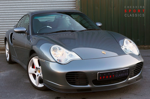 2003 Porsche 911 (996) turbo, 39k, Grey, Black Leather, High Spec For Sale (picture 1 of 6)