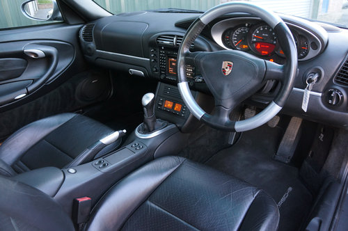 2003 Porsche 911 (996) turbo, 39k, Grey, Black Leather, High Spec For Sale (picture 4 of 6)