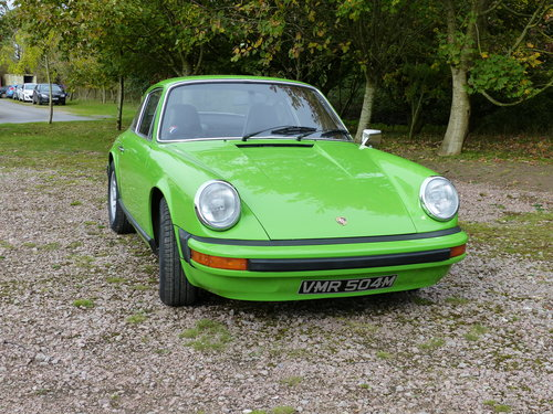 Porsche 911 2.7 Coupe LHD 1974 Lime green For Sale (picture 4 of 6)