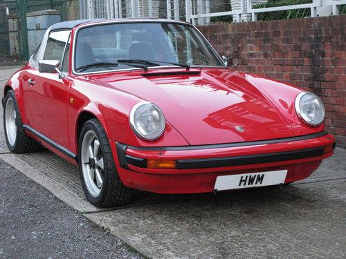 1982- PORSCHE 911 SC TARGA 3.0L- RED For Sale (picture 1 of 6)