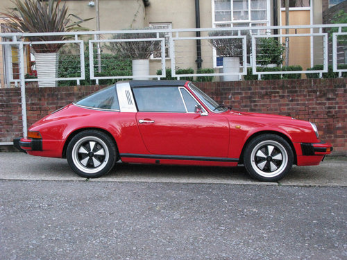 1982- PORSCHE 911 SC TARGA 3.0L- RED For Sale (picture 3 of 6)