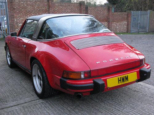 1982- PORSCHE 911 SC TARGA 3.0L- RED For Sale (picture 6 of 6)