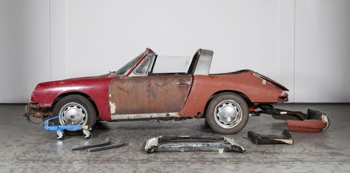 1968 Porsche 912 Soft Window project burgundy/matching For Sale (picture 2 of 6)