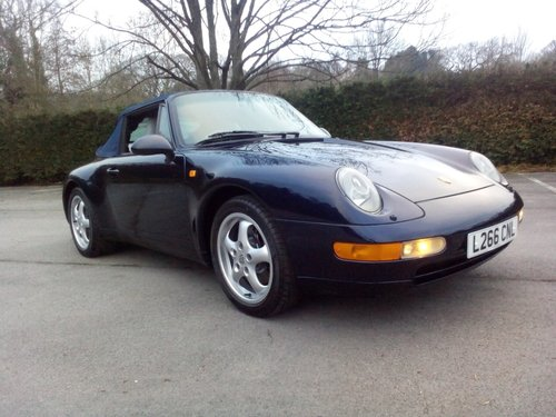 1994 Porsche 993 Carrera 2 Cabriolet SOLD (picture 1 of 6)
