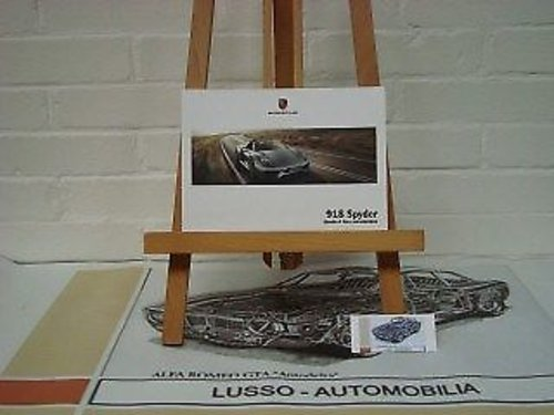 Porsche 918 Spyder owners manual For Sale (picture 1 of 1)