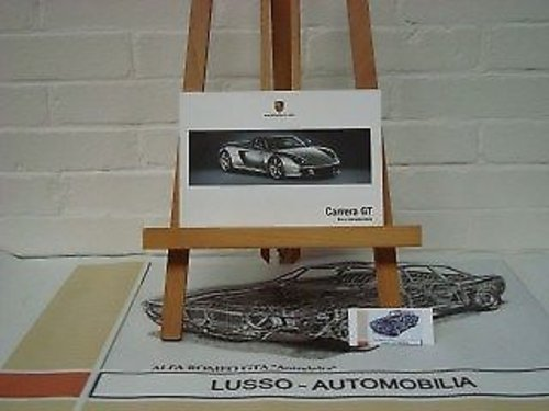 Porsche Carrera GT owners manual For Sale (picture 1 of 1)