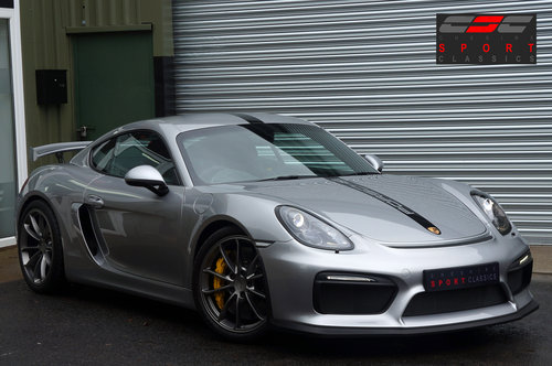 2015 Porsche Cayman GT4, 6000miles, GT Silver, Ceramic's, Buckets SOLD (picture 1 of 6)