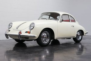 1962 Porsche 356 B Super-90 Coupe = clean  Ivory(~)Red $92.  For Sale