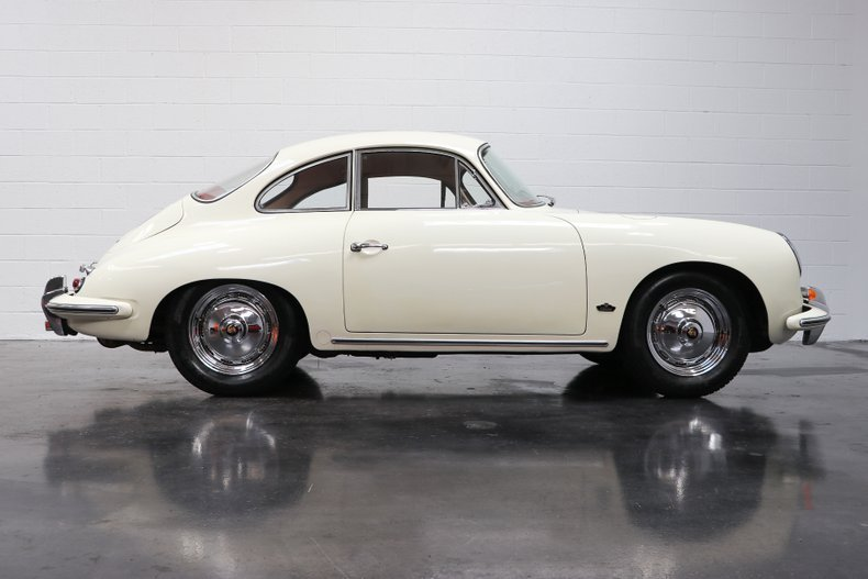 1962 Porsche 356 B Super-90 Coupe = clean  Ivory(~)Red $92.  For Sale (picture 2 of 6)