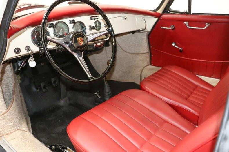 1962 Porsche 356 B Super-90 Coupe = clean  Ivory(~)Red $92.  For Sale (picture 4 of 6)