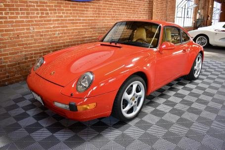 1995 Porsche 993 Carrera Coupe = Red(~)Tan 49k miles $56.5k For Sale (picture 1 of 6)