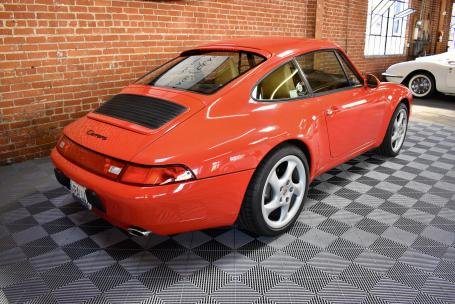 1995 Porsche 993 Carrera Coupe = Red(~)Tan 49k miles $56.5k For Sale (picture 2 of 6)