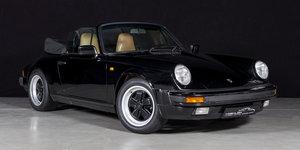 1988 Beautiful black/tan Porsche 911 3.2 Cabriolet For Sale