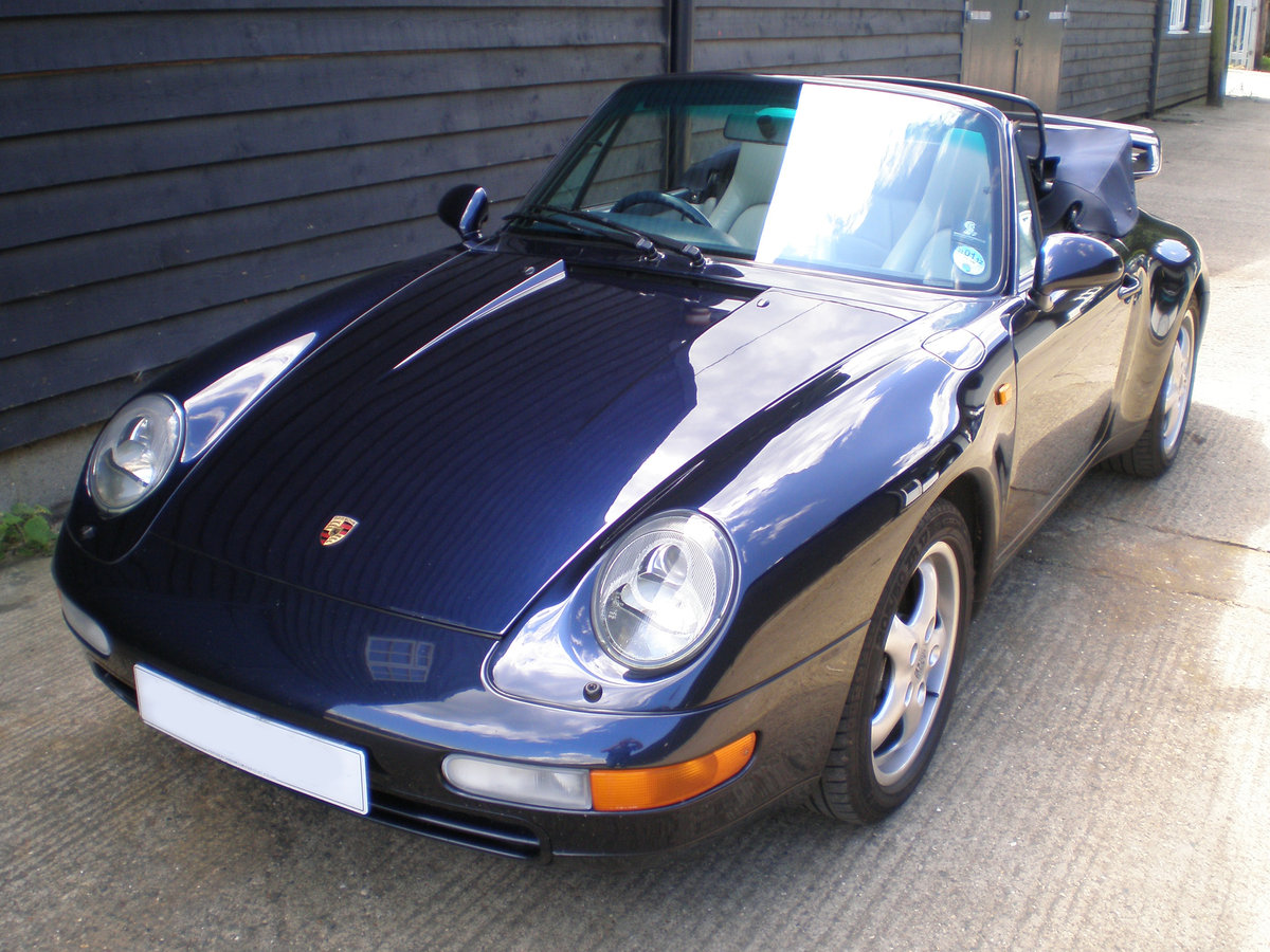 1994 PORSCHE 911/993 3.6 CARRERA 2 CONVERTIBLE New Clutch & Hood  For Sale (picture 4 of 6)