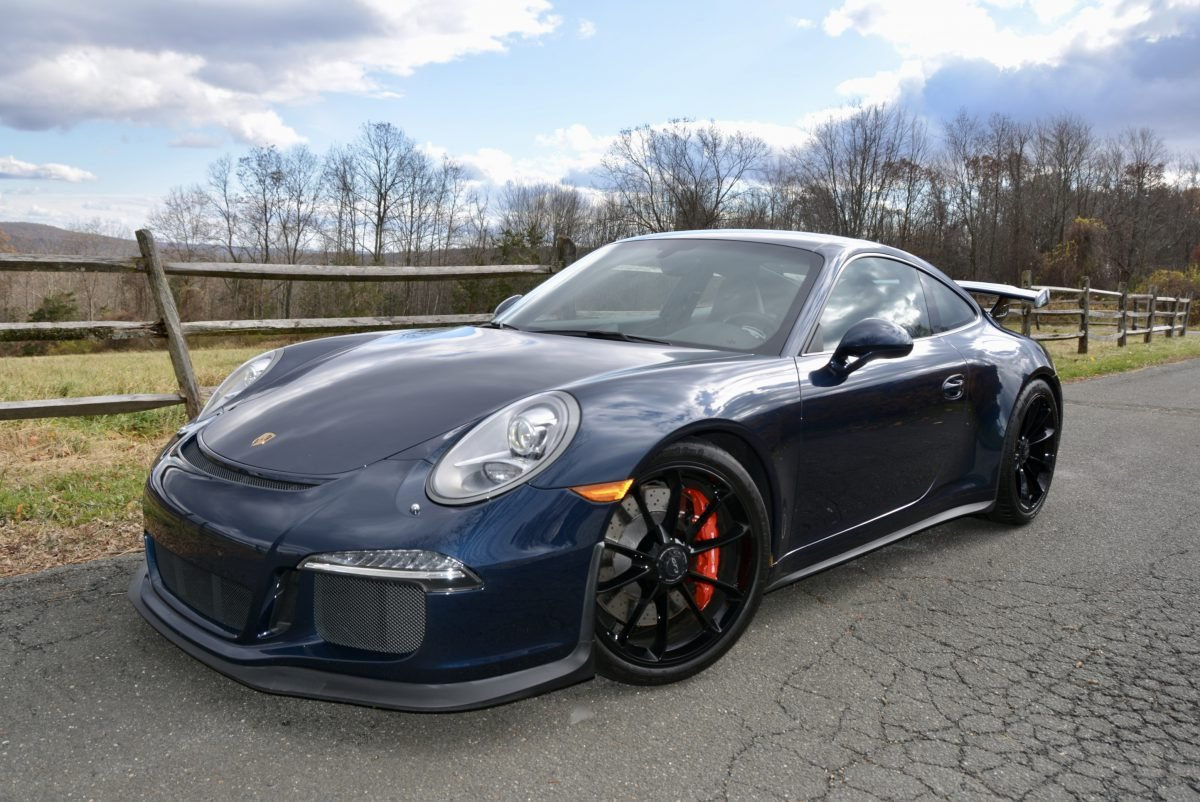 2015 Porsche 911 GT3 = Auto Dark Met Blue 13k miles $127.9k For Sale (picture 1 of 6)