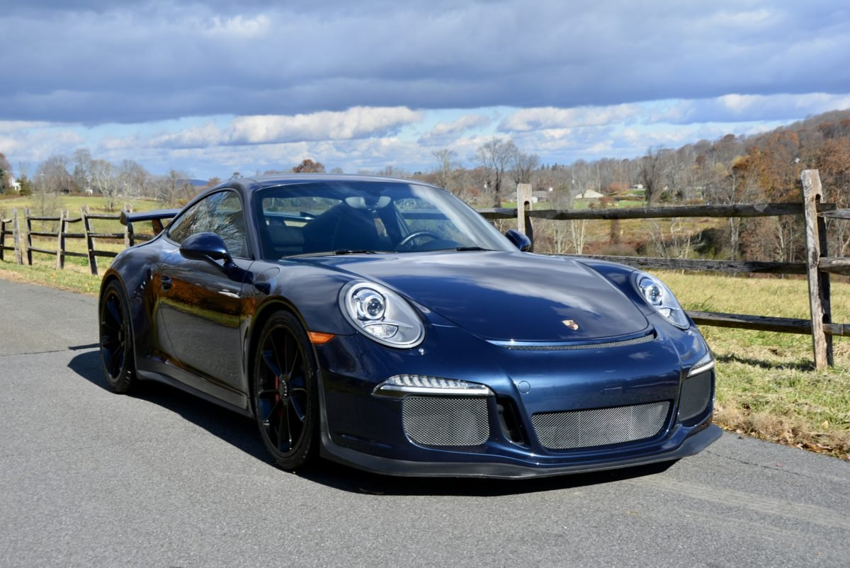 2015 Porsche 911 GT3 = Auto Dark Met Blue 13k miles $127.9k For Sale (picture 2 of 6)