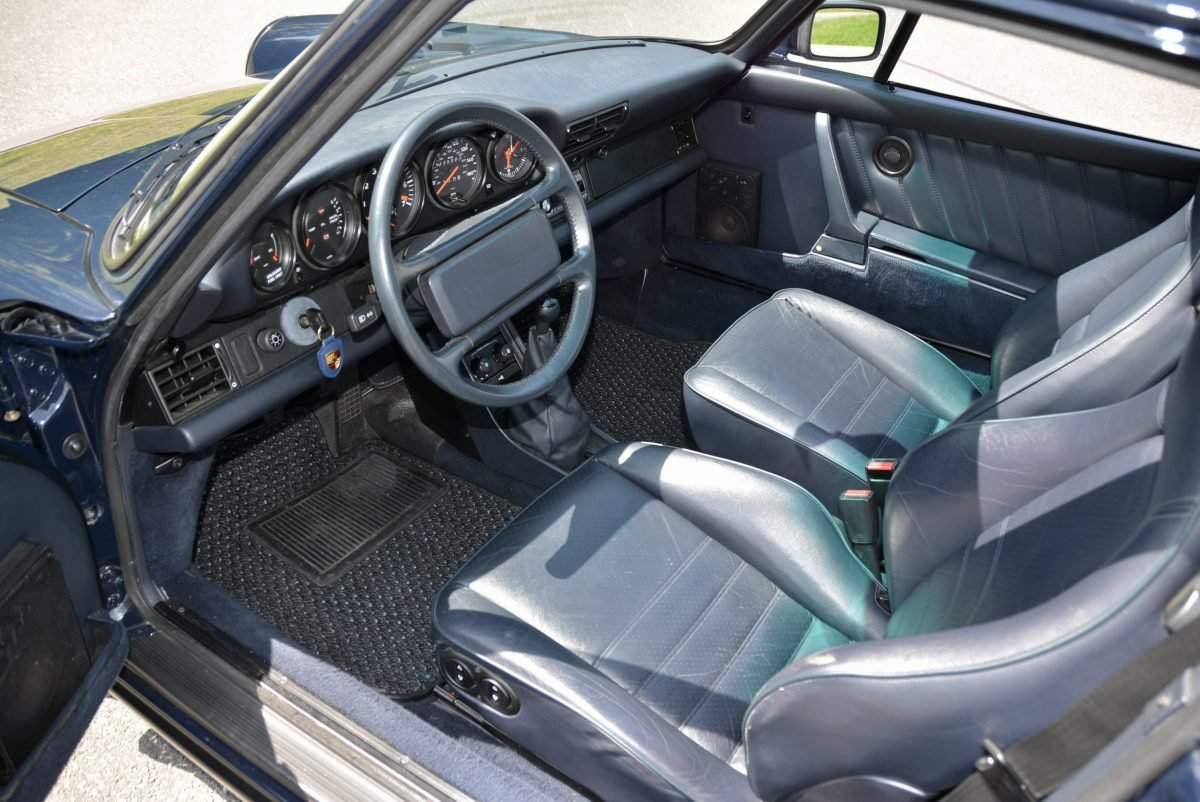 1987 Porsche 930 Turbo Coupe = 35k miles Blue $obo For Sale (picture 4 of 6)