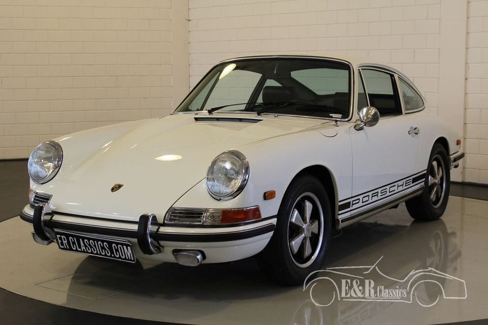 Porsche 911 L coupe White 1968 Matching Numbers For Sale (picture 4 of 6)