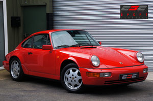 1990 Porsche 911 (964) Carrera 4 Coupe, Manual, Red, FSH, Superb. For Sale