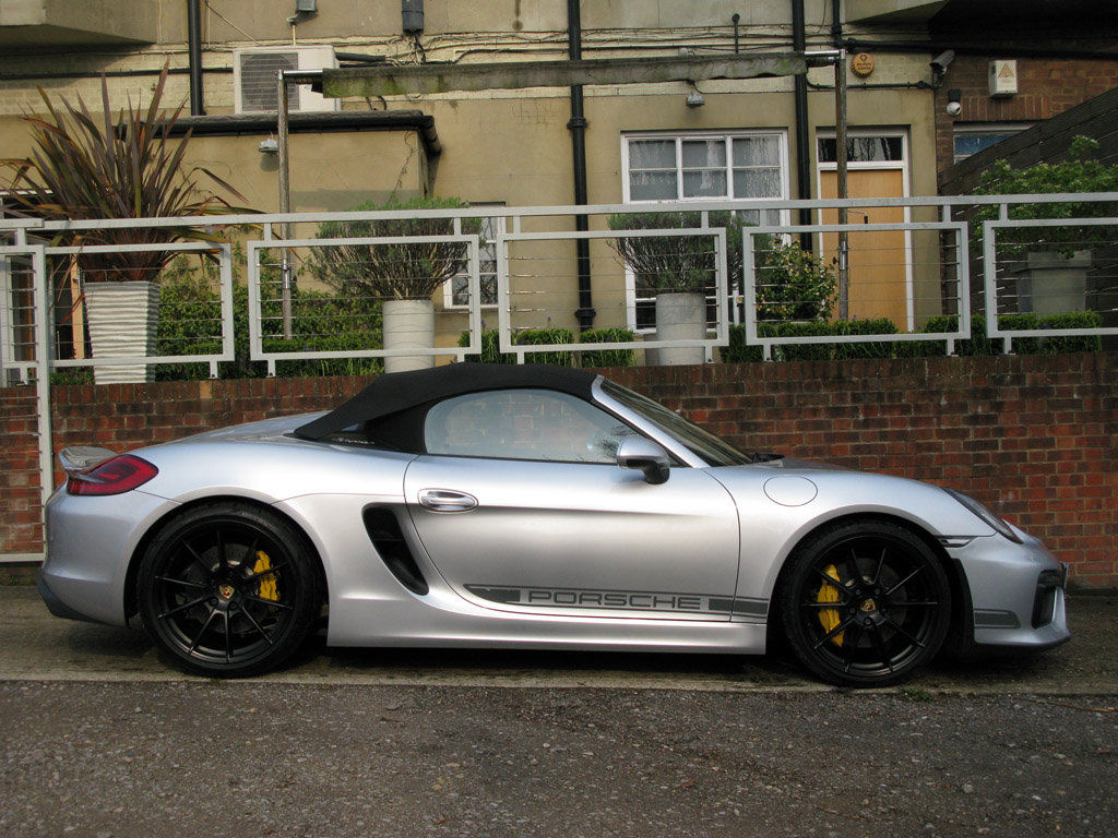 2016-PORSCHE 981BOXTER GEN II RDS SPYDER- SILVER For Sale (picture 3 of 6)