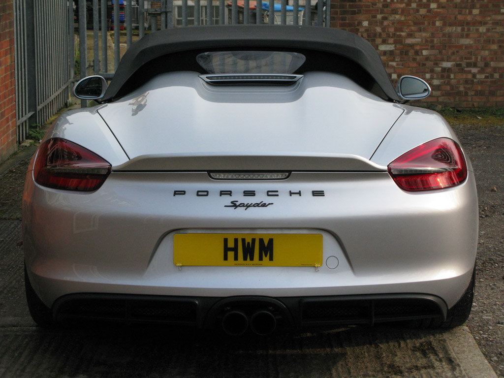 2016-PORSCHE 981BOXTER GEN II RDS SPYDER- SILVER For Sale (picture 5 of 6)