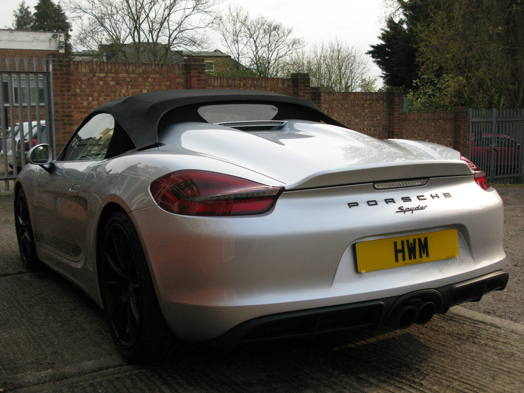 2016-PORSCHE 981BOXTER GEN II RDS SPYDER- SILVER For Sale (picture 6 of 6)