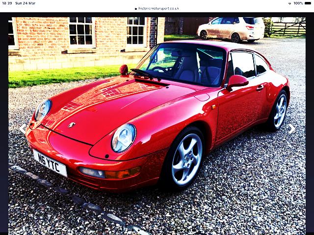 1995 PORSCHE 911 CARRERA 993  AUTO TIP COUPE For Sale (picture 1 of 5)