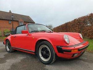 1986 Porsche 911 3.2 Carrera Convertible G50 Gearbox Model  For Sale