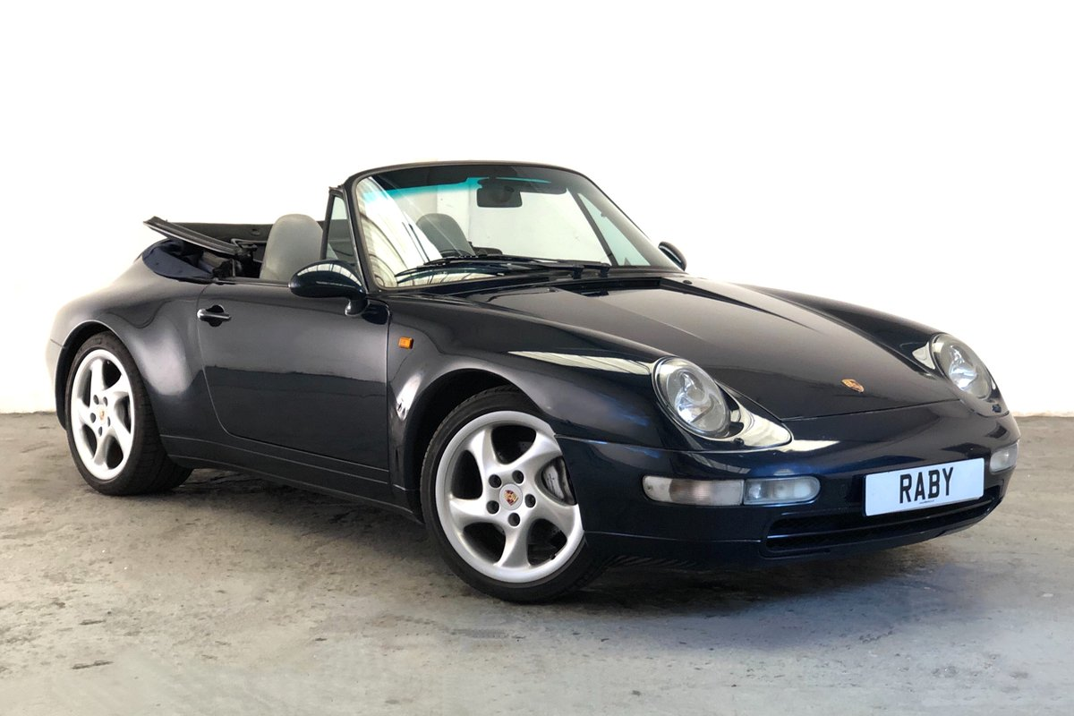 1997 Porsche 993 Carrera 4 Cabriolet, one of the last aircooled SOLD (picture 1 of 6)