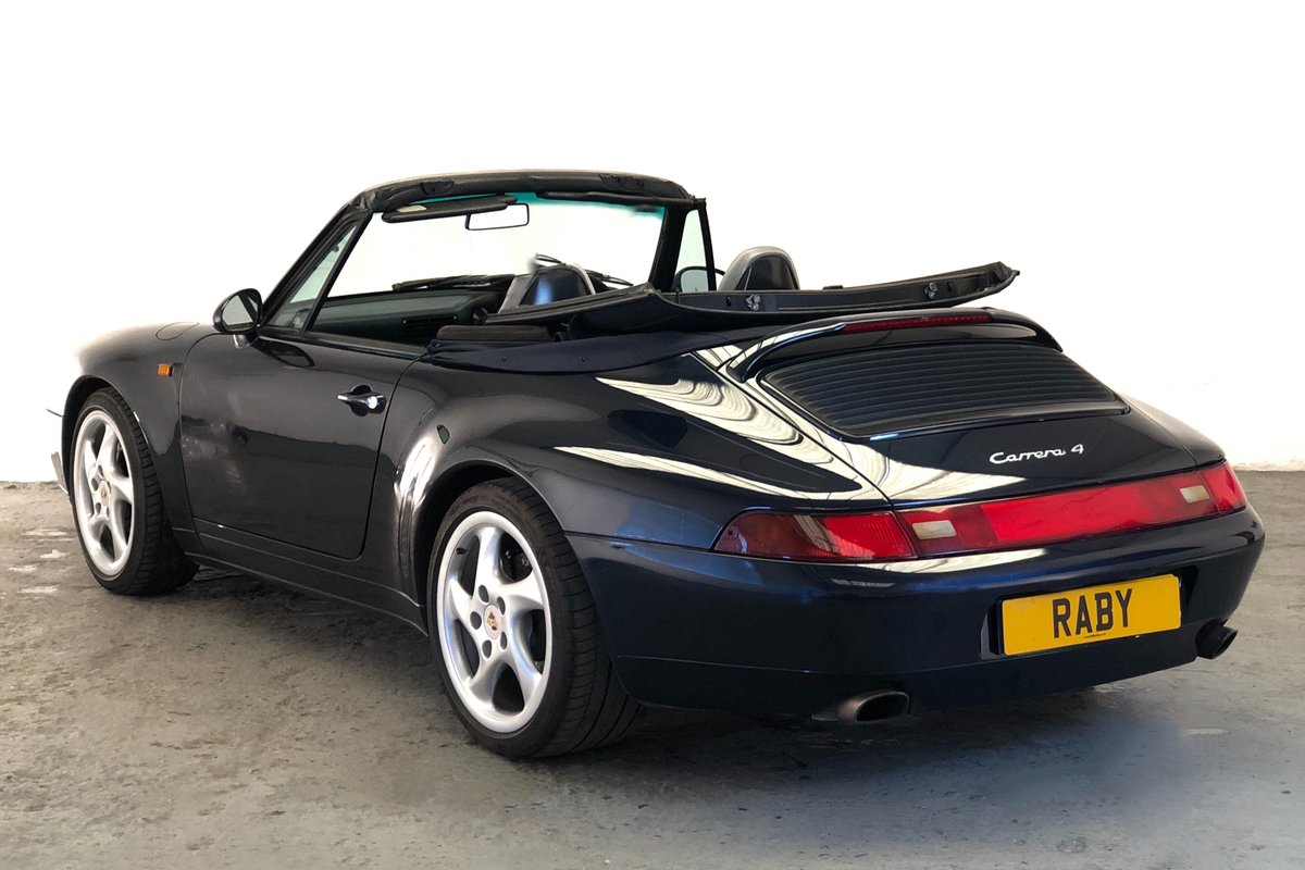 1997 Porsche 993 Carrera 4 Cabriolet, one of the last aircooled SOLD (picture 2 of 6)