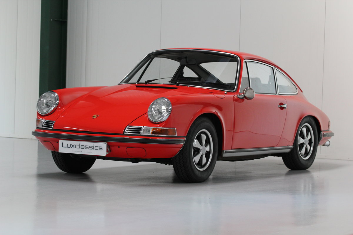 1968 1969 Porsche 911 T Restored Blood Orange For Sale (picture 1 of 6)