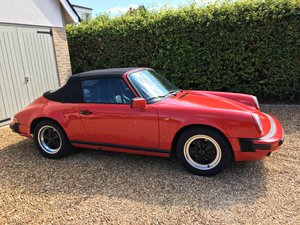 1986 Porsche 911 3.2 Carrera cabriolet For Sale