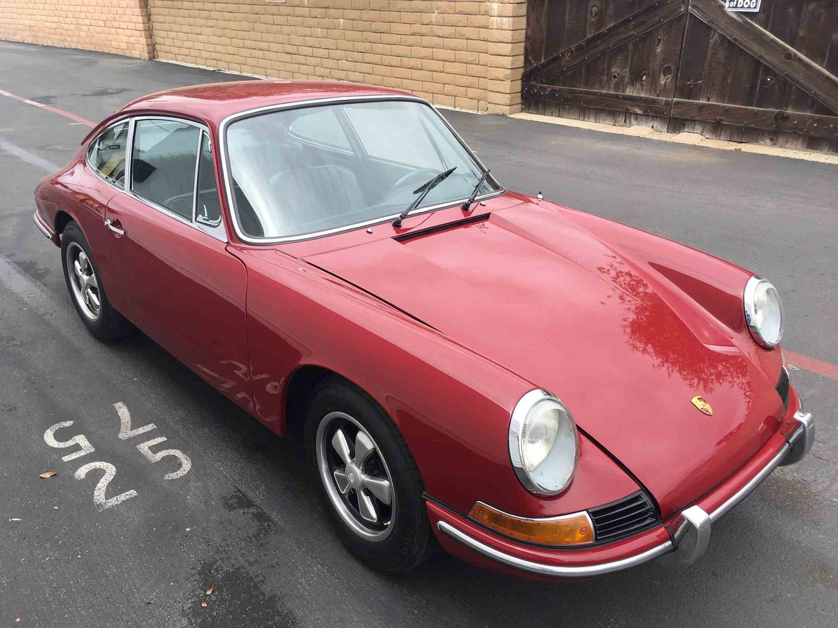 1967 Porsche 912 Coupe = Restored Red(~)Black Solid $75k For Sale (picture 2 of 6)