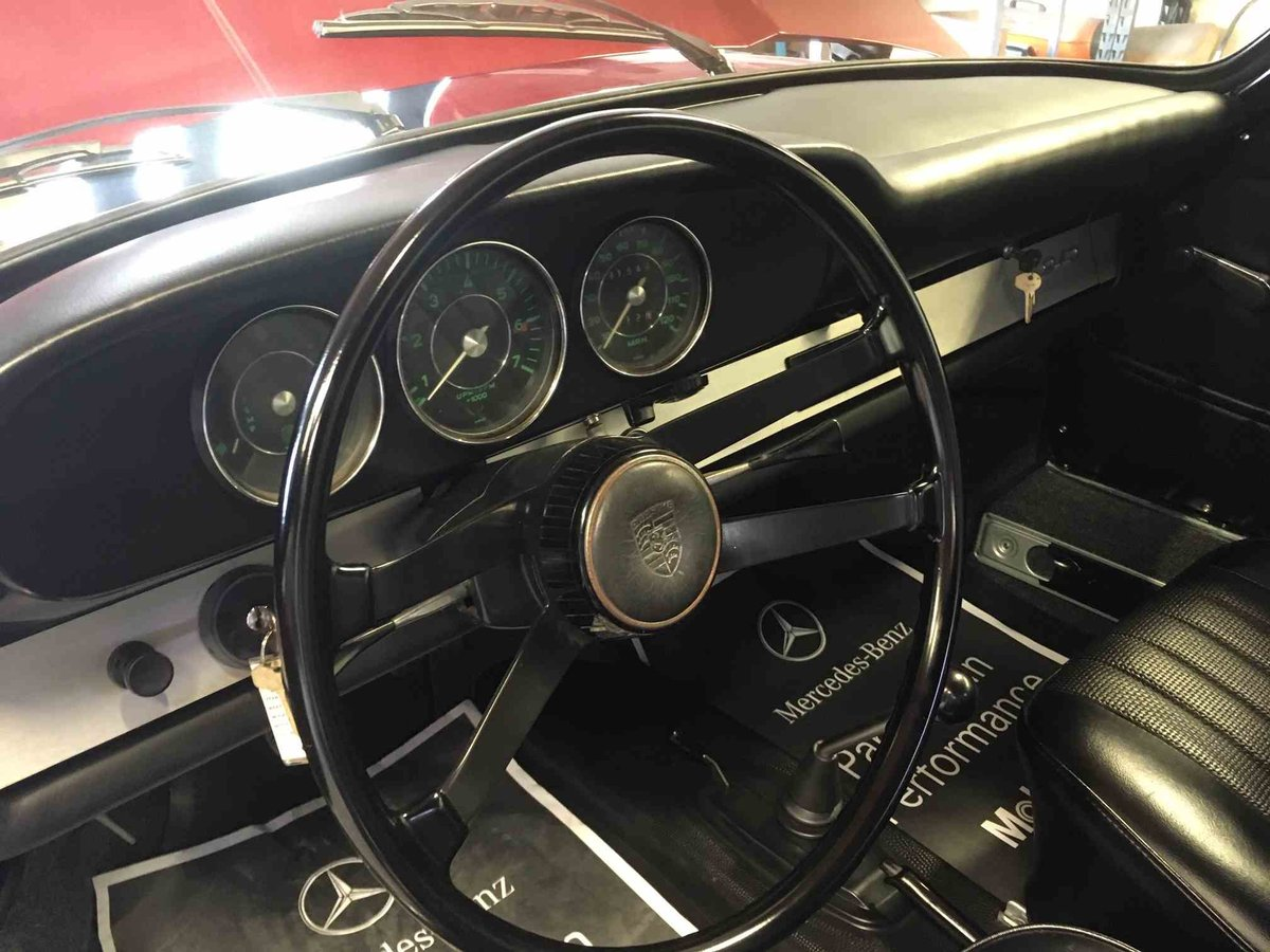 1967 Porsche 912 Coupe = Restored Red(~)Black Solid $75k For Sale (picture 4 of 6)