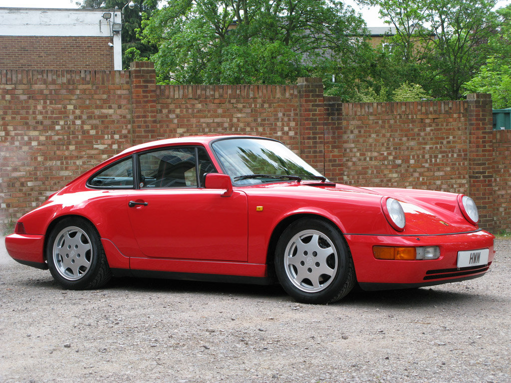 1989- PORSCHE 964 CARRERA C2 COUPE- RED For Sale (picture 1 of 6)
