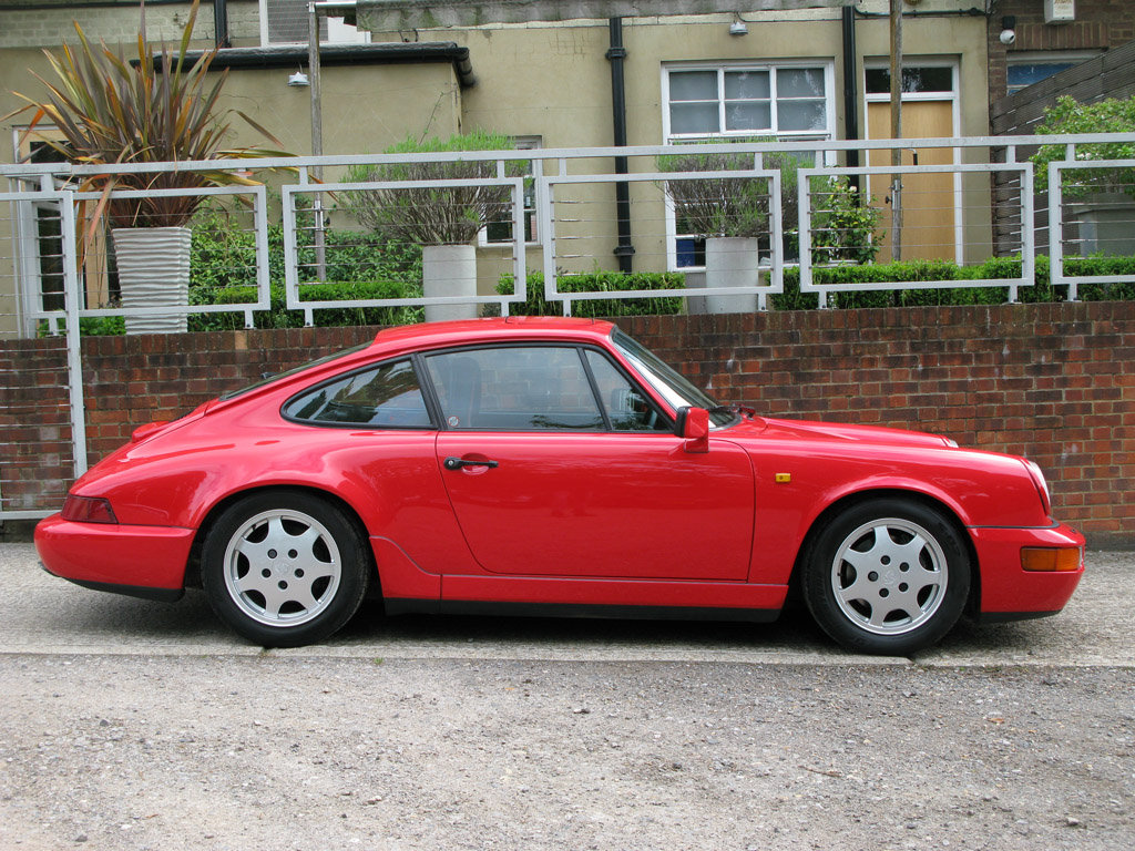 1989- PORSCHE 964 CARRERA C2 COUPE- RED For Sale (picture 2 of 6)