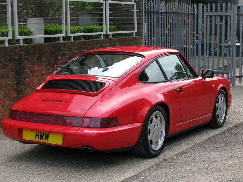 1989- PORSCHE 964 CARRERA C2 COUPE- RED For Sale (picture 3 of 6)