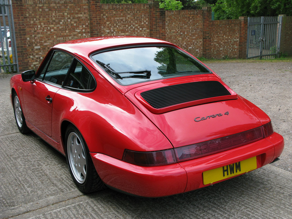 1989- PORSCHE 964 CARRERA C2 COUPE- RED For Sale (picture 5 of 6)