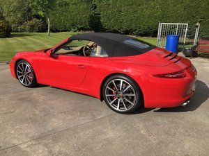2012 Guards Red 911 (991) Convertible For Sale