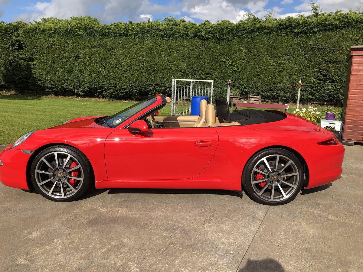 2012 Guards Red 911 (991) Convertible For Sale (picture 2 of 6)