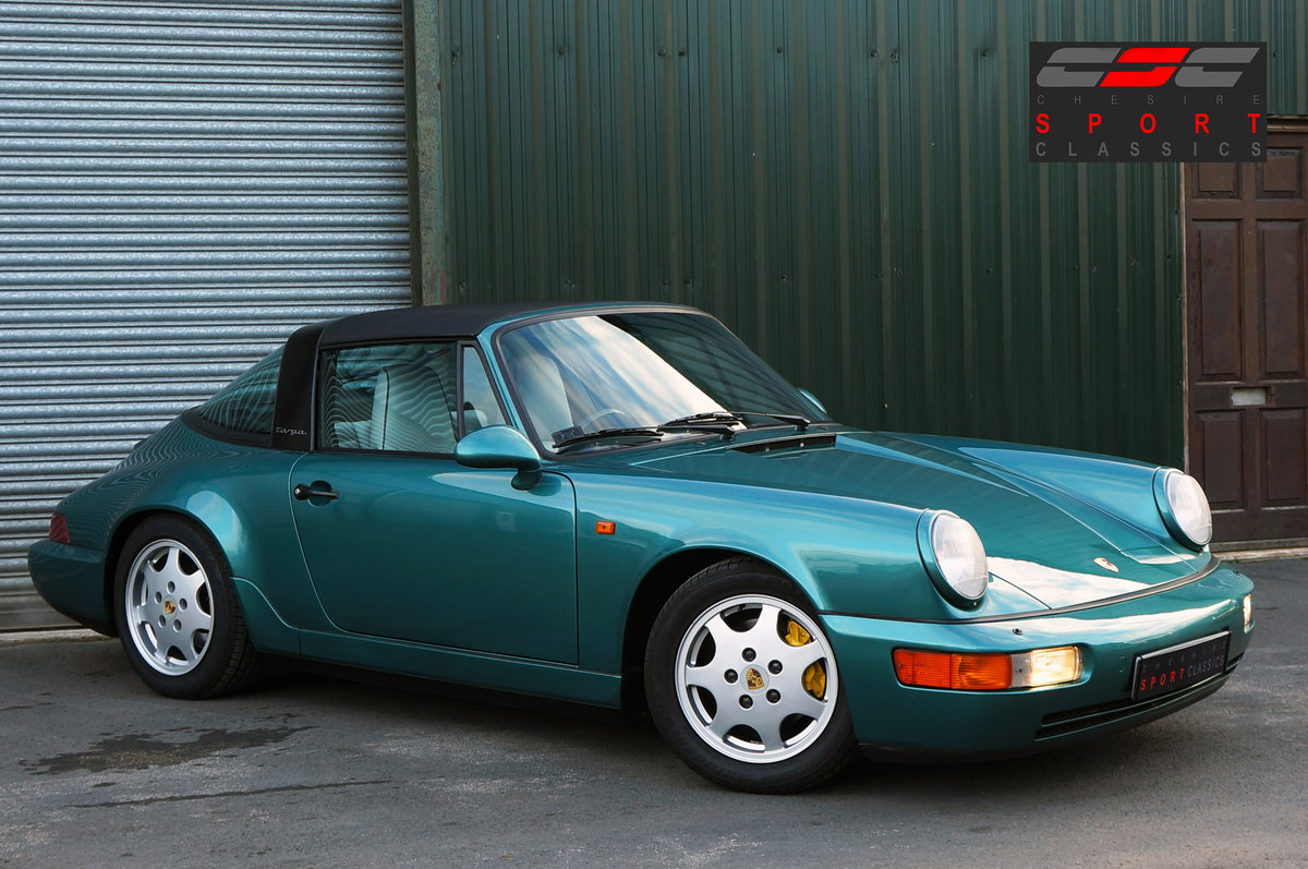 1992 Porsche 911 (964) Carrera 4 Targa, Turkis Green, 58k miles. For Sale (picture 1 of 6)
