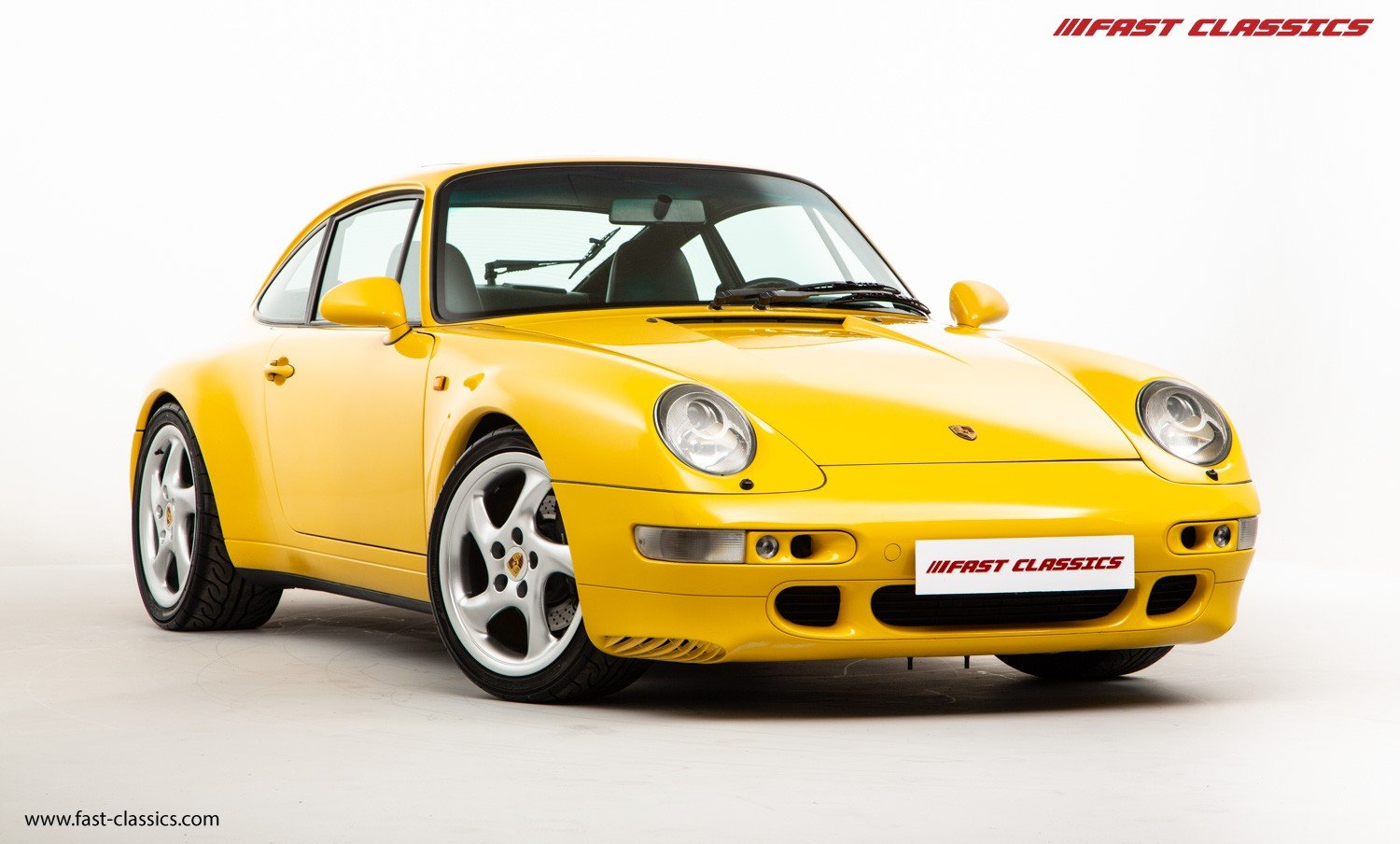 1995 PORSCHE 993 CARRERA 2 // LHD // SPEED YELLOW For Sale (picture 2 of 6)