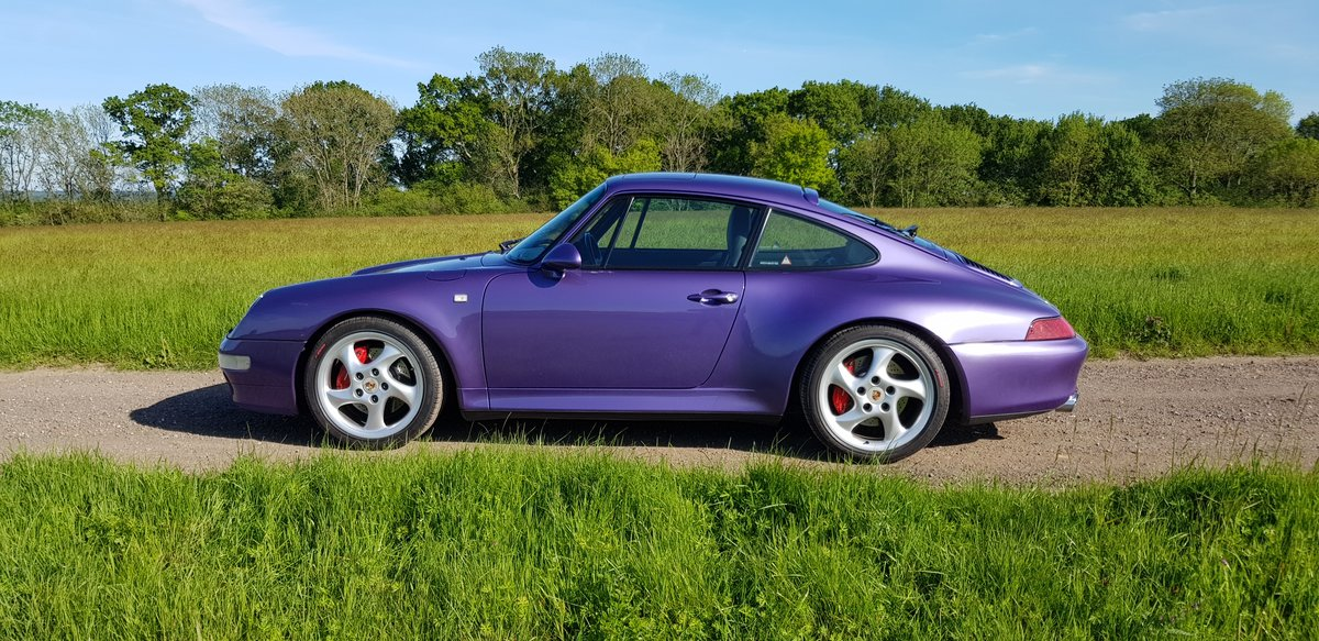 1998 993 LOW MILEAGE RARE MANUAL C 4S - SPECTACULAR VIOLET BLUE   For Sale (picture 2 of 6)