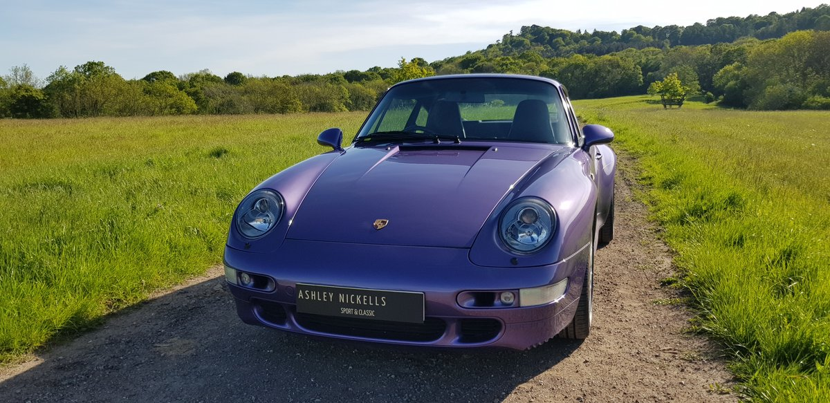 1998 993 LOW MILEAGE RARE MANUAL C 4S - SPECTACULAR VIOLET BLUE   For Sale (picture 3 of 6)