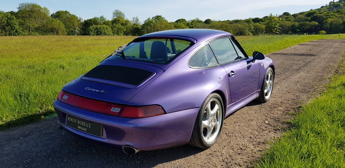 1998 993 LOW MILEAGE RARE MANUAL C 4S - SPECTACULAR VIOLET BLUE   For Sale (picture 4 of 6)